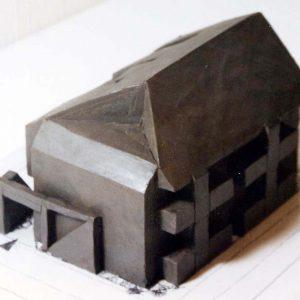 松原の家々