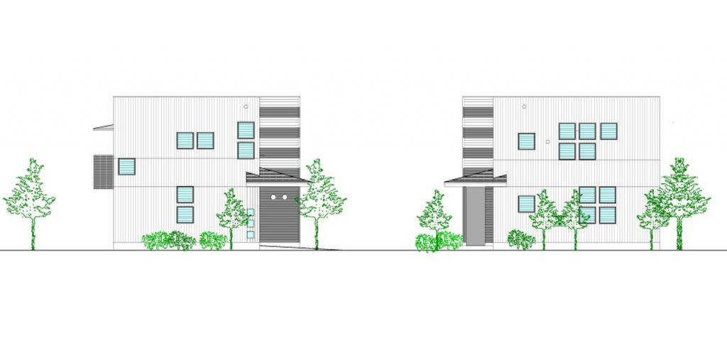 杉並の家 立面図